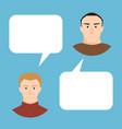 men talking people fashion couple vector image vector image