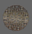 metal circular pattern mandala vector image
