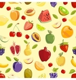 Miscellaneous fruits seamless pattern vector image