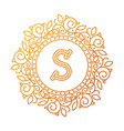monogram s bage logo text vector image vector image
