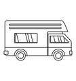 motor house icon outline style vector image vector image