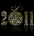 New Year 2011 symbol vector image vector image
