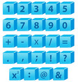 number and math symbol vector image vector image
