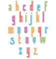 Outer Echo typeset striped retro 70s style font vector image vector image