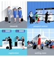People In Airport vector image vector image