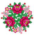 polish folk art floral round decoration vector image vector image