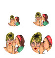 pop art social network user avatars vector image