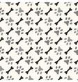 seamless animal pattern paw footprint and bone vector image vector image