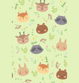 seamless pattern with forest animals graphics vector image vector image