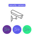 security camera outline icons set vector image