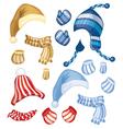 set hats vector image vector image