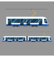 set mass rapid transit urban vehicles vector image
