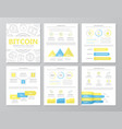 set of colored digital money and bitcoin elements vector image vector image