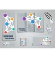 Set of presentation of flyer design content vector image vector image