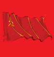soviet union artistic brush stroke waving flag vector image
