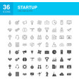 startup line web glyph icons vector image vector image