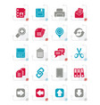 stylized internet interface icons vector image vector image