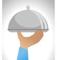 tray dish server icon vector image
