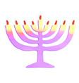 watercolor chanukiah jewish holiday hanukkah vector image