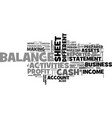 what is a balance sheet text word cloud concept vector image vector image