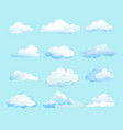 white clouds on light blue vector image vector image