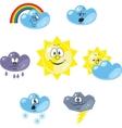 Weather cartoon set 001 vector image