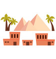 set of ancient egypt vector image