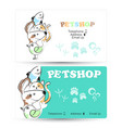 pets business card vector image