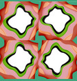 abstract cut out abstract waves for web design vector image