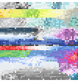 Abstract pixel art color background vector image