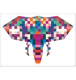 Animal head elephant triangular pixel icon vector image vector image
