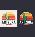 arizona t-shirt design print typography label vector image vector image