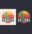 arizona t-shirt design print typography label vector image vector image