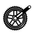 bicycle gear icon vector image