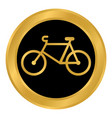 bike button on white vector image vector image