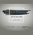 black friday sale discounts blue technology banner vector image vector image