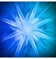 Blue background in the form of snowflakes vector image