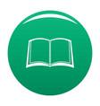 book university icon green vector image