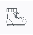 Boot icon Hiking or work shoe sign vector image