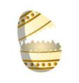 broken easter egg vector image