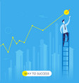 businessman climbs stairs vector image vector image