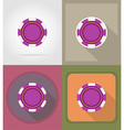 casino flat icons 12 vector image vector image