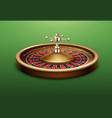 casino roulette wheel vector image vector image