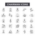 chairman line icons signs set outline vector image vector image