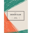 creative greeting cards template retro style vector image vector image
