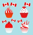 Cup cake for celebrate the national day of Canada vector image vector image