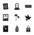Death icons set simple style vector image vector image