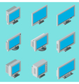 Desktop computer monitor icons vector image