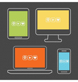 Device icon set vector image vector image