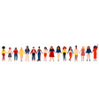 diverse international group of happy women or vector image vector image